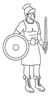a roman soldier from late ancient rome coloring page netart