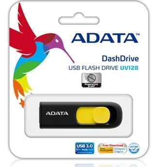 Flash Disk A Data Uv128 16 Gb Usb 3 a data dashdrive series uv128 16gb usb 3 0 černo žlut 253