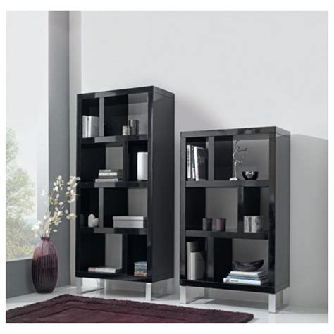 buy costilla 3 shelf bookcase black gloss from our