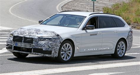 facelifted  bmw  series spotted   plug  hybrid