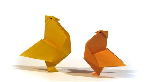 Origami Hen - easy easter origami hen tutorial how to make an easy