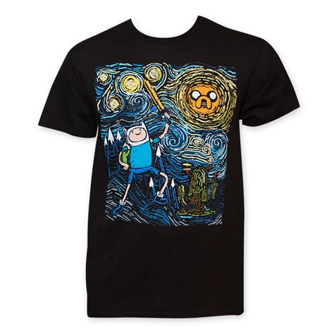 Dnf T Shirt Starry Black by Adventure Time S Black Starry T Shirt