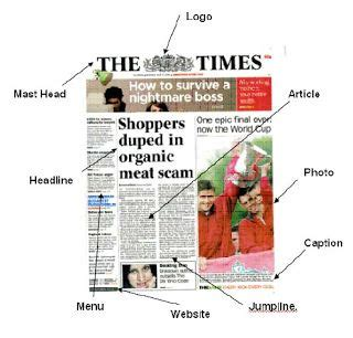 news paper sections parts of a newspaper school newspaper pinterest