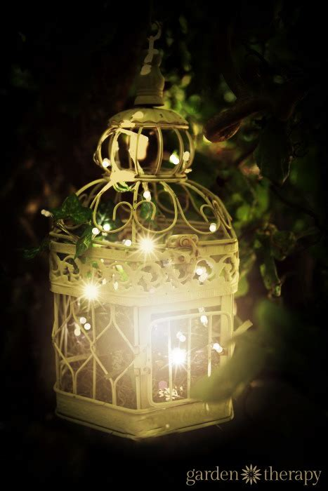 Outdoor White String Lights Birdcage Outdoor Garden Light With Warm White String Lights Garden Therapy