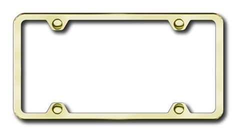 Frame Steel Gold 3 4 gold stainless steel license plate frames gold