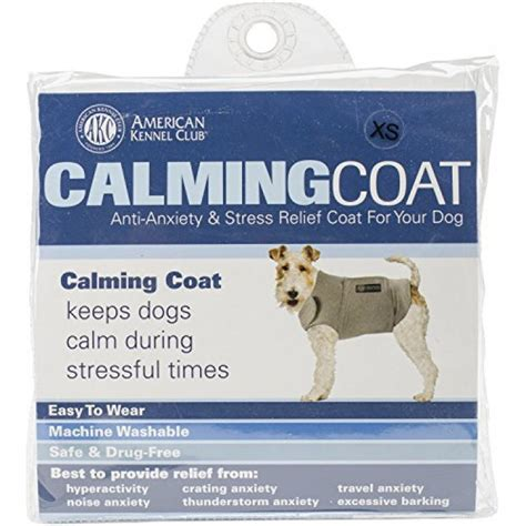 calming coat for dogs geekshive american kennel club calm anti anxiety stress relief coat for dogs xs