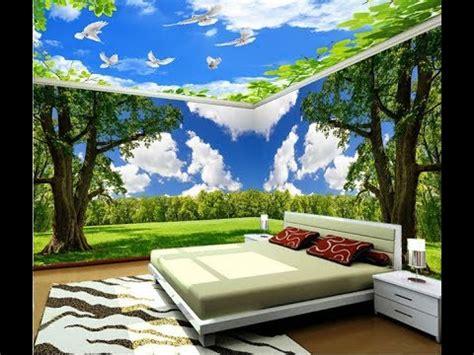 wallpaper motif awan desain wallpaper kamar tidur motif awan pegunungan cantik