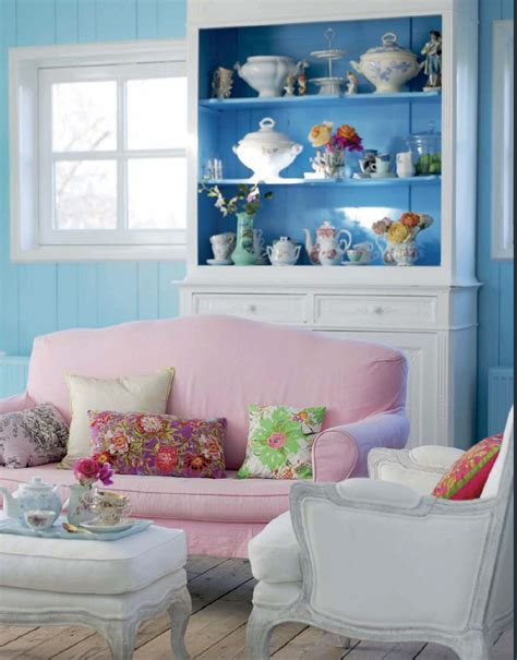 Decor On Top Of Cabinets Pink And Blue Pastel Shabby Chic Interiors By Color
