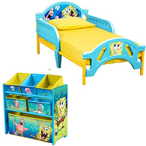 spongebob bed spongebob toddler bed and multi bin organizer bundle