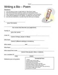 Teaching Dossier Template by Best 25 Bio Poem Exles Ideas On Exle Of