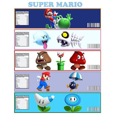 Bros Label Pin Tuspin 2 In 1 Kalung Kode Okto 20d instant mario bottle label digital file for