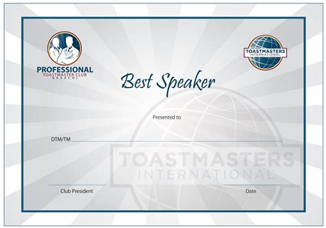 toastmasters certificate of appreciation template toastmasters award certificate template image collections