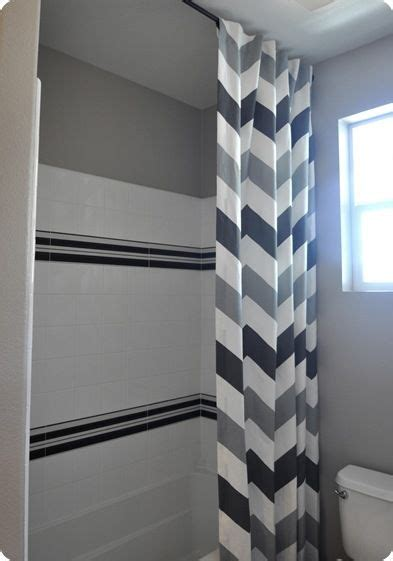 shower curtain height from floor 25 best ideas about chevron bathroom on pinterest
