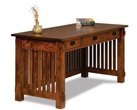 amish mission craftsman arts crafts writing desk solid wood office furniture ebay
