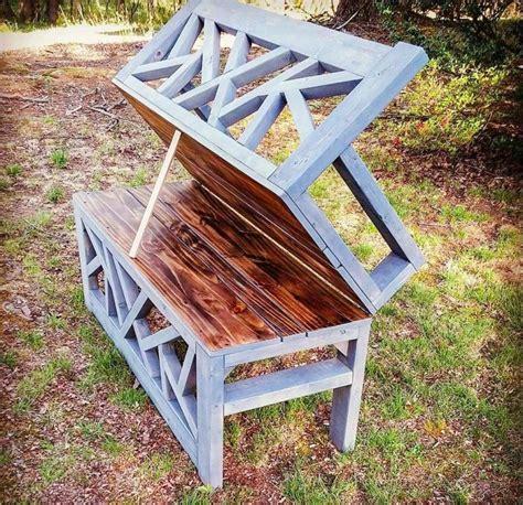 handmade garden bench handmade outdoor bench doubles as minimalist coffee table