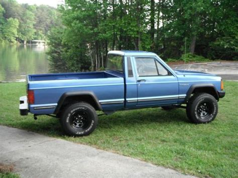 jeep comanche blue buy used 1988 jeep comanche bed low and no