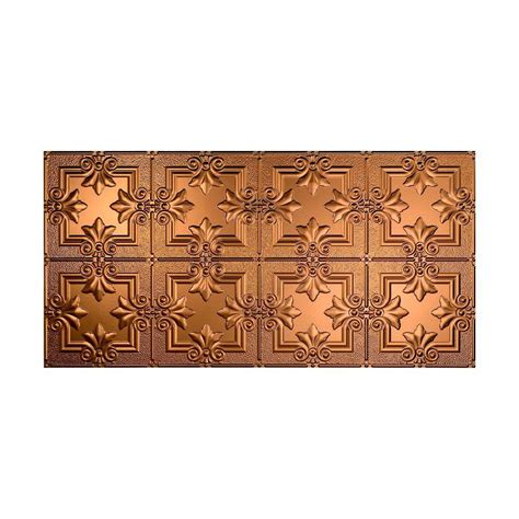 Bronze Ceiling Tiles by Fasade Regalia 2 Ft X 4 Ft Glue Up Ceiling Tile In