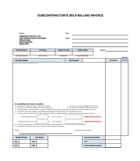 Sample Billing Invoice   12 Documents in PDF, Word, Excel