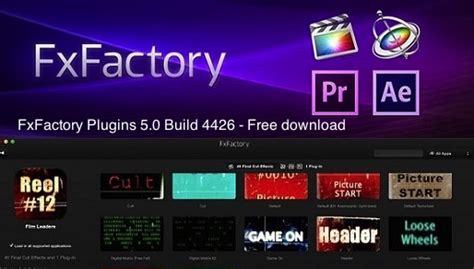 final cut pro effects free download download fxfactory plugins 5 0 build 4426 free