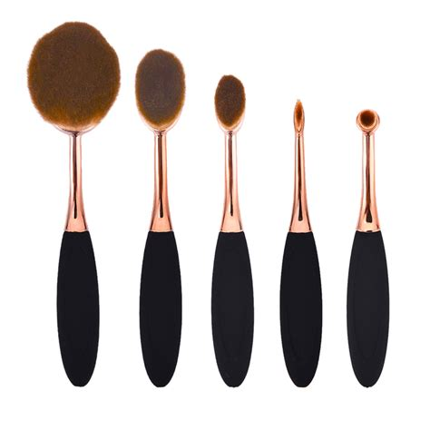 Brush Gold Set 8 Set gold oval 5 makeup brush set best buys