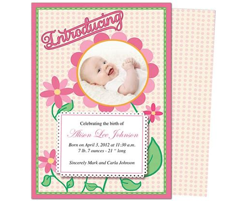 baby announcement templates free baby announcement template