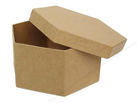 Craft Paper Mache Boxes - paper mache hexagon box 4 1 2 in by craft pedlars 24