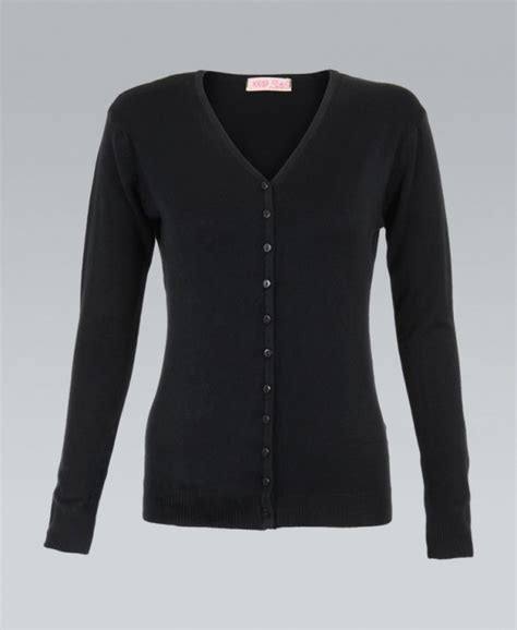 black knitted cardigan krisp knit button up plain black cardigan krisp