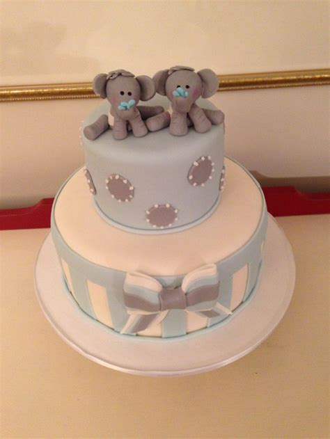 twin boy baby shower cakes party xyz
