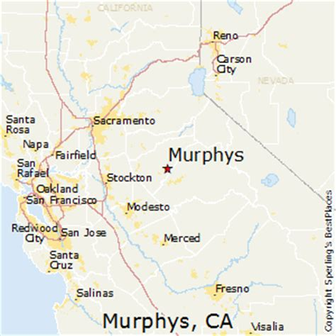 s california map best places to live in murphys california
