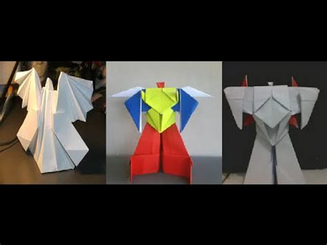 How To Make A Paper Robot That - origami origami robot transformer origami robot
