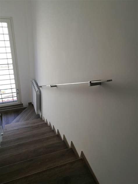 corrimano in acciaio preventivo corrimano inox 40x10 a parete linea moderna bologna