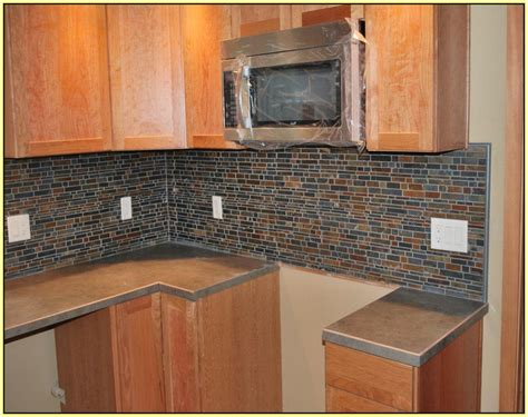 slate tile kitchen backsplash slate mosaic backsplash tile home design ideas