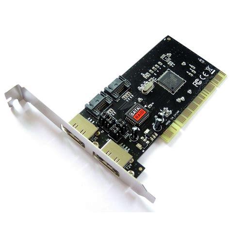 Pci Sound Card 41 Silver dynamode 2 port esata 2 port sata pci card ocuk