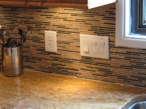 Glass Tile Backsplash Kitchen by Frugal Backsplash Ideas Feel The Home