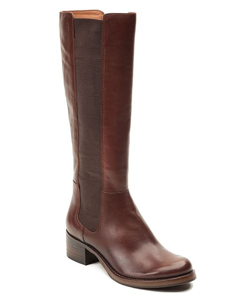 lucky boots lucky brand hylda boot in brown sequoia lyst