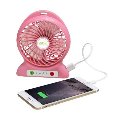 Kipas Powerbank Portable Rt Bf02 2000mah jual vivan robot rt bf01 portable lithium battery fan pink harga kualitas terjamin