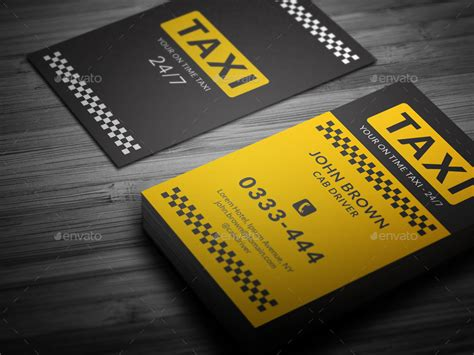 taxi cab business card templates taxi business card by mr design graphicriver