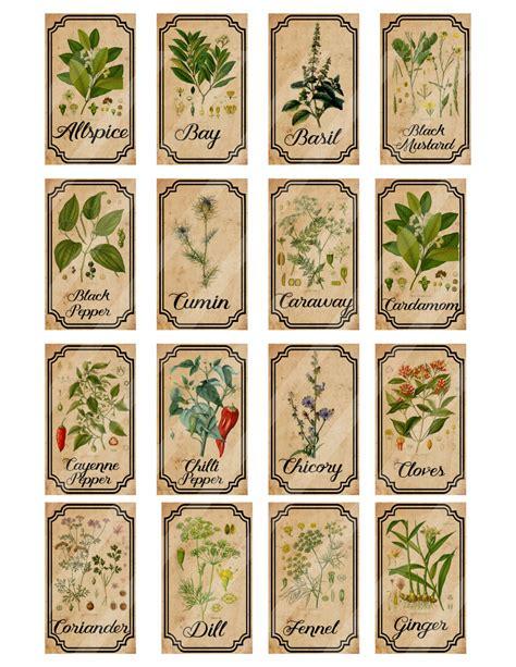 printable vintage labels for jars botica de hierbas y especias etiquetas digitales para