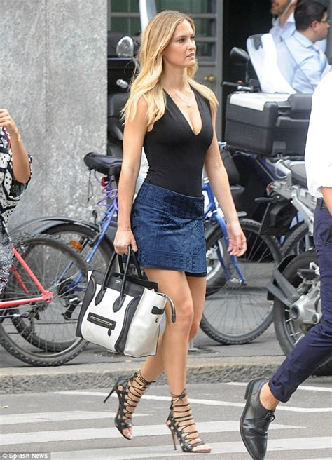 Style Bar Rafaeli by Bar Refaeli Dons A Black Top And Wrap Around