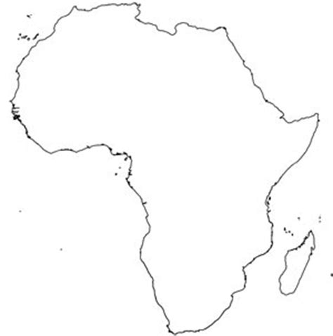 Blank Outline Of Africa by Africa Map Blank Printable Printable Maps