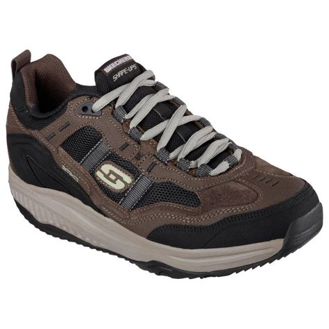 57501 brbk skechers shoes shape ups 2 0 brown black 2015