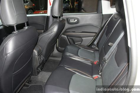 jeep compass rear interior india bound jeep compass rear seat at the geneva motor