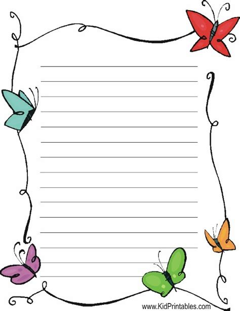 free printable stationary sheets butterflies stationery printables activities and ideas
