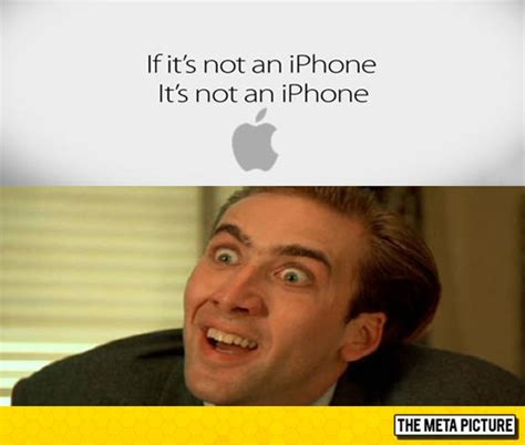Nicolas Cage Funny Memes - apple s new slogan yes this is real the meta picture