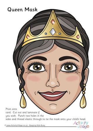 printable masks queen fairy tale masks
