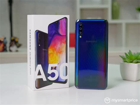 Samsung Galaxy A50 On by Samsung Galaxy A50 Review Finally A Reasonable Samsung Mid Ranger Mysmartprice