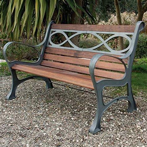 panchine da giardino in ghisa panchina ghisa e legno houston 131x65x71 cm