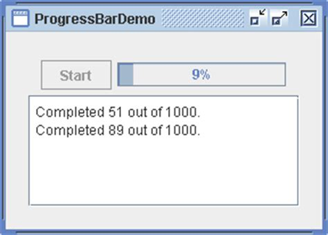 swing status bar progressbar demo long task progressbar 171 swing jfc 171 java