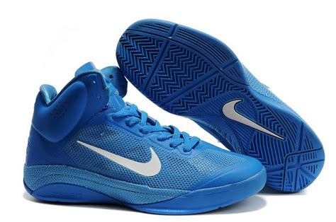 white and blue basketball shoes nike zoom hyperfuse s basketball shoe in blue and