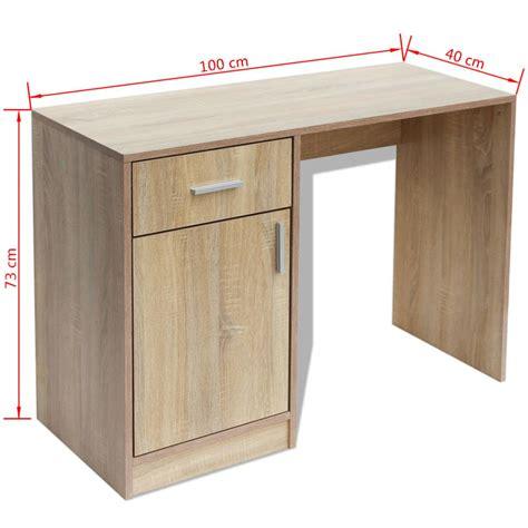 Schreibtisch 100 X 40 by Vidaxl Schreibtisch Mit Schublade Und Schrank Eiche